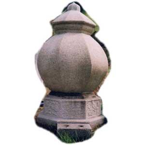 <center>壺形墓石</center>